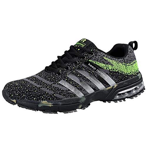 Wealsex Laufschuhe Turnschuhe Straßenlaufschuhe Sneaker Mit Damen Herren Sportschuhe Laufen auf Asphalt (39 EU, Tarnung Grün)