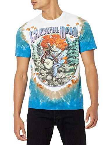 Liquid Blue Men's Grateful Dead Banjo T-Shirt, Multi, X-Large
