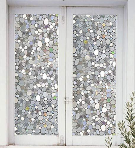Beste kwaliteit Statische ilet slaapkamer zitkamer keuken stickers prCling raamfolies Gebruikt voor privacy (steen), breedte 75cm