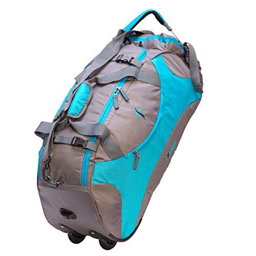 IStorm Wheeler Trolley Travel Duffel Bag (Sky Blue & Grey)