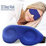 3D Sleep Mask, New Design Light Blocking Sleeping Eye Mask for Women Men, 3D Contoured Comfortable & Soft Night Blindfold with Adjustable Strap, Molded Eye Shades Eye Cover for Travel/Naps