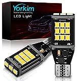 Yorkim 921 LED Bulb, CANBUS Error Free Brake Light...