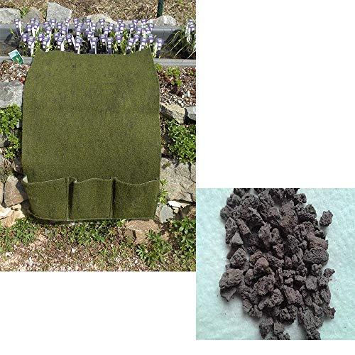 Große Planztasche 3er mit 6 Kg Füllung Lava 2-8 mm Pflanzhilfe für Teichpflanzen