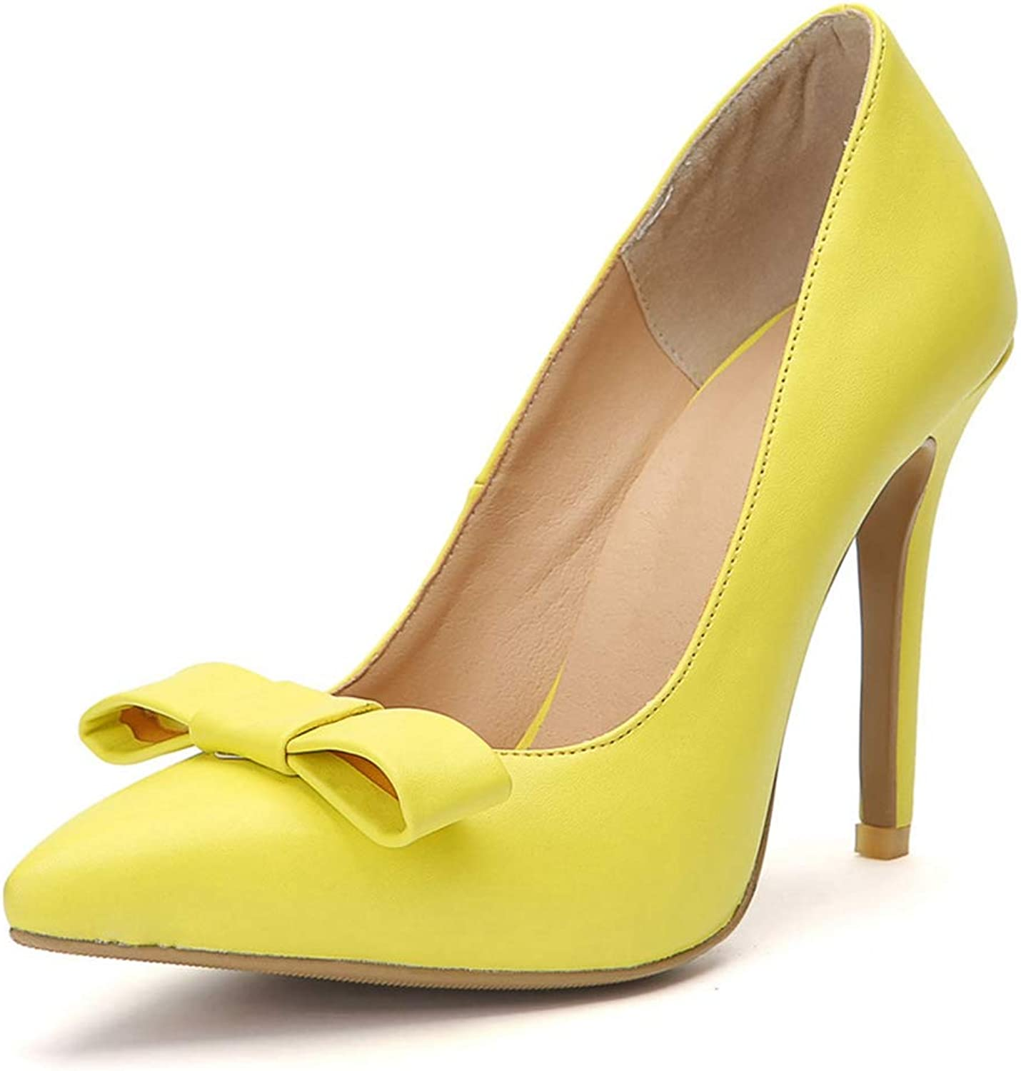 Summer Heeled Sandal Ladies High Heeled Sandals Yellow Bow Design Fashion Comfortable shoes