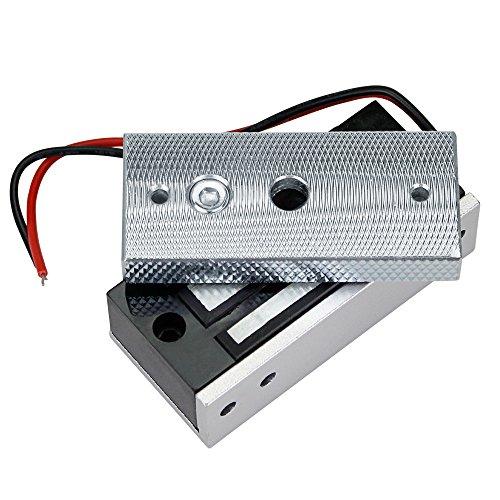 LEXI 60KG/132lbs Electric Magnetic Lock Electromagnetic Door Lock Fail-Safe DC12V for Glass Door Wooden Door