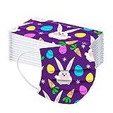 10/50 Piezas Bufanda de Pascua para Adultos, Mujeres Hombres Huevos de Conejito Imprimir Bufanda de Dibujos Animados para Actividades al Aire Libre, Fiesta, diario-10118-22