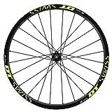 Pegatinas Llantas Bicicleta 29' WH39 DT Swiss Mod.02 VINILOS Ruedas Amarillo Fluor