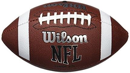 Wilson WTF1857XB Pelota de fútbol Americano NFL Bulk JR Cuero Compuesto para Juego recreativo, Unisex-Adult, Negro, Tamaño Juvenil