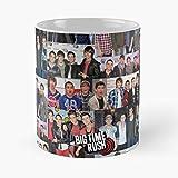 BTR Time Carlos Jenner Rush Logan Kendall Big Best - Taza de café de cerámica de 325 ml