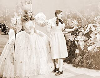 The Wizard of Oz Glinda and Dorothy Munchkin Land Classic Fantasy Musical Movie Film Postcard Poster Print 11x14