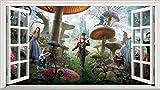 Alice in Wonderland Full Colour Magic Window Image Wall