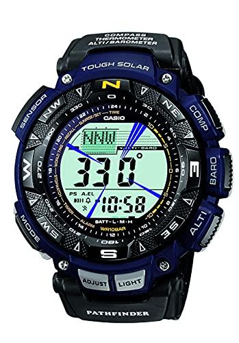 Casio Men's Pro Trek Stainless Steel Quartz Watch with Nylon Strap, Two Tone, 23 (Model: PAG240B-2CR)