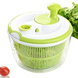 Large Salad Spinner and Keeper - 5L Lettuce Spinner Vegetable Washer Dryer with Large Salad Bowl and Plastic Colander, Fruit Veggie Wash & Salad Making, BPA Free