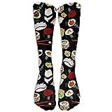 Shotngwu Japanische Sushi-Socken, lang, Baumwolle, Sport, bequem, atmungsaktiv über die Wade
