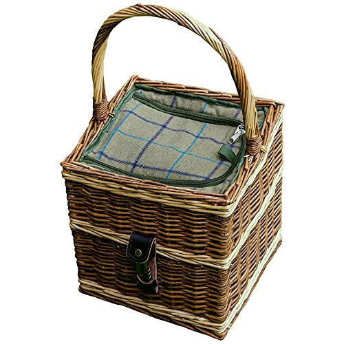 Red Hamper Beaufort Wicker Picnic Basket with Fitted Cooler