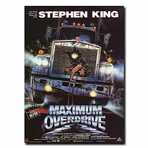 JLFDHR Máximo Overdrive 90'S Stephen King Película Pintura Arte Cartel Impresión Lienzo...