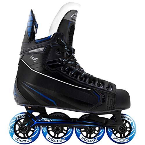 Alkali Revel 6 Senior Inline Hockey Skates Black/Blue 9.0 D