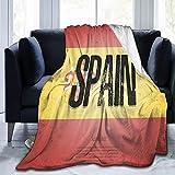 Flags Spain - Manta de franela mullida, cómoda, cálida, ligera, suave, para sofá, dormitorio, sofá