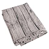 VORCOOL Vintage European Style Square Tablecloth Cotton and Linen Table Cover Protector for Dinning Table End Table Decoration 90 x 90 cm (Wood Grain Pattern)