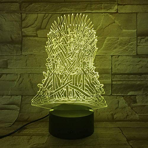 7 decoratieve lampen met wisselende kleuren met 3D-lagen op het spel. Memo-riem voor kinderen