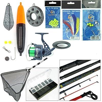 Complete Sea Fishing Kit 10ft Telescopic Rod Hunter Pro HP60S Reel Tackle Net from Hunter Pro