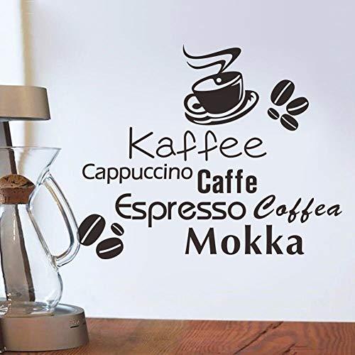 ganlanshu wasserdichte wandtattoos köstliche kaffeetasse Vinyl wandaufkleber Dekoration bäckerei Cafe Shop küche wandbild 85 cm x 57 cm
