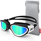 Swim Goggles, ZIONOR G1 Polarized Swimming Goggles UV Protection Leakproof Anti-fog Adjustable Strap for Adult Men Women (Polarized Mirror Gold Lens)