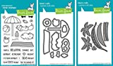 Lawn Fawn On The Beach Stamps and Dies and Hammock & Trees Dies Set - Three Item Bundle