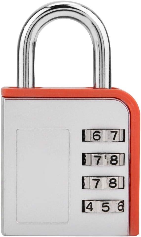 Candado con contraseña de 4 dígitos, candado con contraseña, puerta de almacén, candado industrial para puerta, bolsa de viaje, bolsa deportiva, taquilla, máquina expendedora, etc.(rojo)