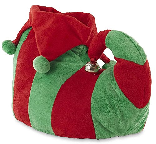 Joe Boxer Women's Elf Christmas Slippers (7-8 B(M) US, Green/Red)