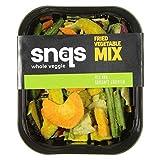 Snaqs Mezcla vegana de verduras asadas - snacks salados - alimentos deshidratados - Paquete de 10x75 gramos 90112