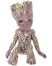PVC Groot Figura de Acción para Bebé Galaxy Sentado Árbol Hombre Modelo Juguete Decoración de Escritorio en Casa Regalos de Navidad para Niños