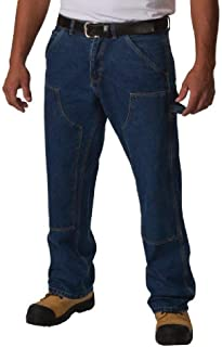 5e4202a48ed Big and Tall Heavy Duty Premium Double Knee Logger Work Jeans to Size 60  Waist and