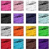Latocos 6mm 16 Rollos Colorido Cordón Elástico Cintas Elásticas Cuerda Bandas para Costura Manualidades Diy Ropa Pretina, Blanco, Negro y Colores Azar