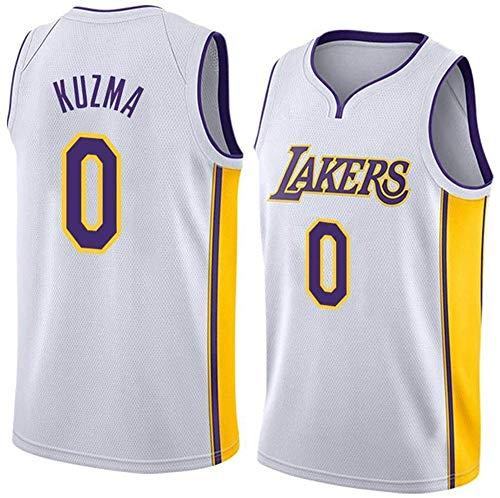 WSUN Kyle Kuzma # 0 NBA Lakers Camiseta De Baloncesto para Hombre Camiseta Sin Mangas Unisex De La NBA Camiseta Bordada De Malla De Baloncesto Swingman Jersey,A,S(165~170CM/50~65KG)