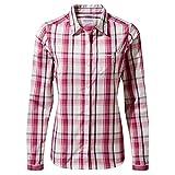 Craghoppers Kiwi LS Shirt Camiseta para Senderismo, Raspbrry Chk, 48 para Mujer