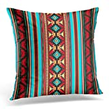 VANMI Throw Pillow Cover Tribal Southwest Leather and Native Decorative Pillow Case Home Decor Square 18x18 Inches Pillowcase