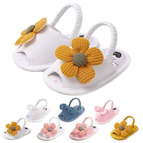 Baby Girls Sandals Soft Summer Flowers Princess Wedding Dress Shoes Infant Newborn Crib Shoes