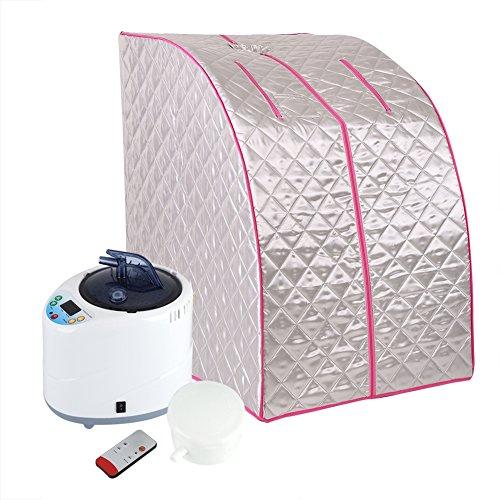 fuwinkr Steam Sauna Set, tragbare 2L Steam Sauna Spa Home Ganzkörper-EIN-Personen-Wärmebox, Saunazelt zur Gewichtsreduktion, Entgiftung, Entspannung zu Hause(Mich)