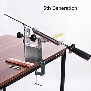 Portable Rotation 360 Degree Pencil Knife KME Knife Sharpener System 3 Whetstone (120#, 600#, 1500#)