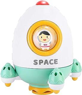 TOYANDONA Bath Toy Fountain Rocket Spray Water Toy Bathtub Shower Pool Bathroom Toy for Baby Toddler Infant