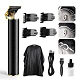 Electric Pro Li Outliner Clippers,Meliza T Blade Trimmer,Zero Gapped Detail Cutting Kit Rechargeable Outliner Trimmer Bald Head Clipper Quiet Ceramic Blades Hair Clippers for Men- Black