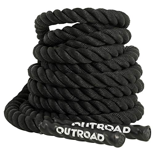 Outroad Jump Rope Sports Battle Rope 30 ft Length 1.5 inch Diameter, for Workout,Fitness & Strength Training
