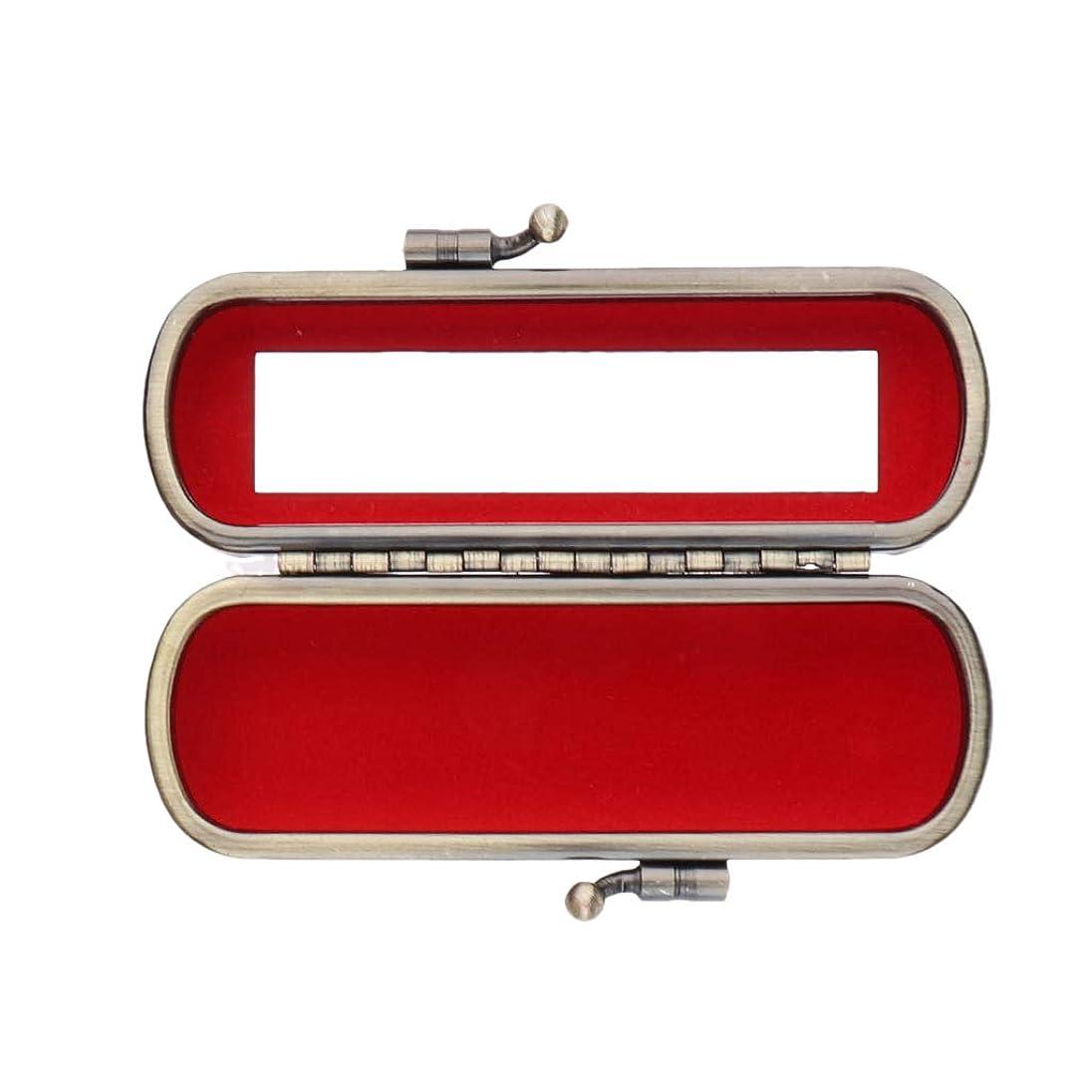 磁器結果飢B Baosity リップスティックケース 口紅 収納ポーチ ミラー付き プレミアム 多色選べ   - 小豆