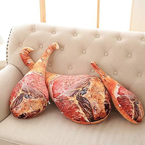 Outtybrave niedliches Kissen in Keulenform, kreativer 3D-Druck, Schinken, zum Spielen geeignet, 60cm, 60 cm