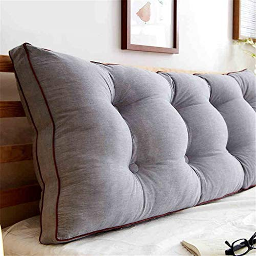 USRVR Headboard Cushion Bedside Reading Backrest Soft Bag Bed Cushion Sofa Bed Head Single Double Pillow (Color : #1, Size : 1802050CM)