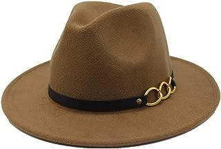 Hat Church Casual Fascinator Hat Size 56-58CM New Men Women Wool Fedora Hat With Leather Belt Autumn Wide Brim Jazz Hat Pop Hat Fashion Hat
