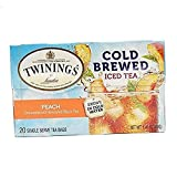 of London Cold Brew Teabags, Peach, 1.41 Ounce .10 pack