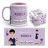 Kembilove Taza de Café de la Mejor Psicóloga del Mundo Personalizada con el Nombre – Taza de Desayuno para la Oficina – Taza de Café y Té para Profesionales – Taza de Cerámica Impresa para Psicólogas