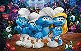 Rompecabezas de 1000 piezas Rompecabezas de actividades familiares Juegos educativos Smurfs the lost village Classic Brain IQ Juego mágico en desarrollo 75x50cm